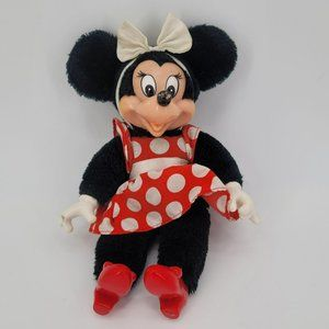 "Vintage Applause Minnie Mouse 10"" Plush Doll 1981"